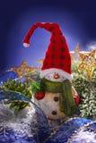 Decoración de la Navidad con el muñeco de nieve Fotos de archivo