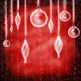 Decoración de la Navidad con la luz imagenes de archivo