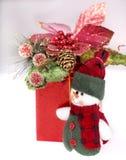 Decoración de la Navidad con la ramificación del abeto. Imagenes de archivo