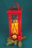 Decoración de la Navidad con la vela Imágenes de archivo libres de regalías