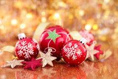Decoración de la Navidad con las estrellas Fotografía de archivo