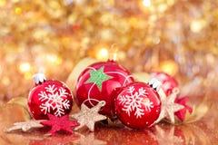 Decoración de la Navidad con las estrellas Imagen de archivo libre de regalías