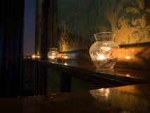 Decoración de la Navidad con las velas Imagenes de archivo