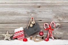 Decoración de la Navidad con los bastones de Navidad Foto de archivo libre de regalías