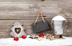 Decoración de la Navidad con los bastones de Navidad Fotografía de archivo