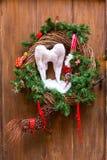 Decoración de la Navidad con Santa Claus en Estrasburgo Fotos de archivo libres de regalías