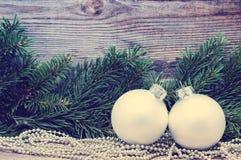 Decoración de la Navidad, días de fiesta, Año Nuevo y concepto de la decoración Foto de archivo libre de regalías
