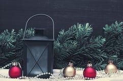 Decoración de la Navidad, días de fiesta, Año Nuevo y concepto de la decoración Imagen de archivo libre de regalías