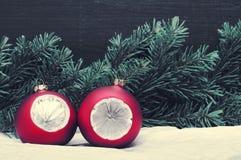Decoración de la Navidad, días de fiesta, Año Nuevo y concepto de la decoración Fotografía de archivo