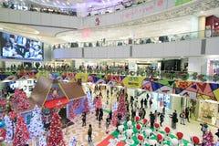 Decoración de la Navidad de Hong Kong Snoopy Fotografía de archivo libre de regalías
