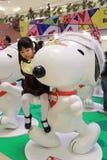 Decoración de la Navidad de Hong Kong Snoopy Imágenes de archivo libres de regalías