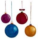 Decoración de la Navidad de la acuarela imagen de archivo libre de regalías
