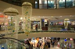 Decoración de la Navidad de la alameda de compras Fotografía de archivo