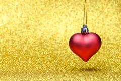 Decoración de la Navidad de la estrella en un fondo del brillo Imagen de archivo libre de regalías