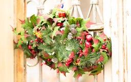 Decoración de la Navidad de la pared y del Año Nuevo Imagen de archivo libre de regalías
