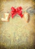 Decoración de la Navidad de la vendimia Imagen de archivo libre de regalías