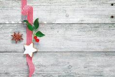 Decoración de la Navidad de la vendimia Fotografía de archivo libre de regalías