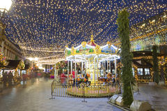 Decoración de la Navidad de las calles de Moscú Fotografía de archivo libre de regalías