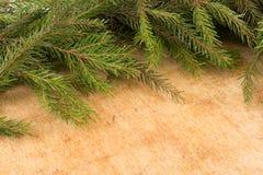 Decoración de la Navidad de las ramas del abeto Fondo del ` s de la Navidad y del Año Nuevo Foto de archivo libre de regalías