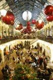 2013, decoración de la Navidad de Londres, jardín de Covent Imagen de archivo libre de regalías
