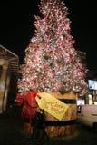 2013, decoración de la Navidad de Londres, jardín de Covent Imagen de archivo