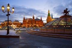 Decoración de la Navidad de Moscú Imagen de archivo libre de regalías
