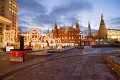 Decoración de la Navidad de Moscú Imagen de archivo