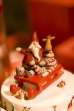 Decoración de la Navidad de Papá Noel fotografía de archivo libre de regalías