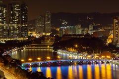 Decoración de la Navidad de Shing Mun River Fotografía de archivo libre de regalías