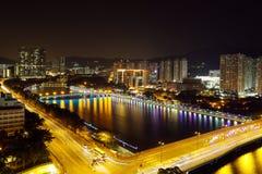 Decoración de la Navidad de Shing Mun River Imágenes de archivo libres de regalías
