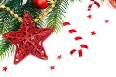 Decoración de la Navidad Decoraciones del día de fiesta Imagen de archivo