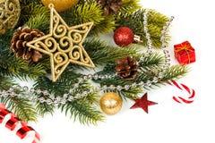 Decoración de la Navidad Decoraciones del día de fiesta Imagenes de archivo