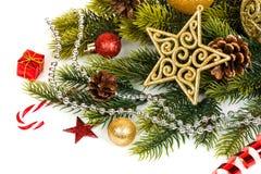 Decoración de la Navidad Decoraciones del día de fiesta Foto de archivo libre de regalías