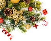 Decoración de la Navidad Decoraciones del día de fiesta Fotos de archivo