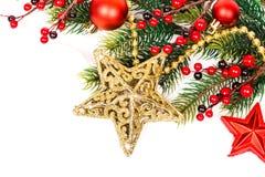 Decoración de la Navidad Decoraciones del día de fiesta Imagen de archivo libre de regalías