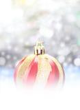 Decoración de la Navidad Decoraciones del día de fiesta en fondo del bokeh; C Imagen de archivo