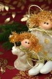 Decoración de la Navidad del ángel Fotos de archivo