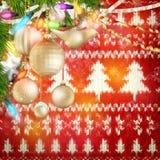 Decoración de la Navidad del Año Nuevo EPS 10 Imagen de archivo libre de regalías