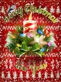 Decoración de la Navidad del Año Nuevo EPS 10 Foto de archivo