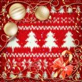 Decoración de la Navidad del Año Nuevo EPS 10 Fotos de archivo