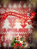 Decoración de la Navidad del Año Nuevo EPS 10 Foto de archivo libre de regalías