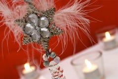 Decoración de la Navidad del copo de nieve Fotografía de archivo