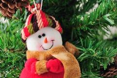 Decoración de la Navidad del hombre de la nieve fotos de archivo libres de regalías