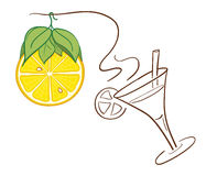 Decoración de la Navidad del limón Imágenes de archivo libres de regalías