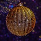 Decoración de la Navidad del oro Imagenes de archivo