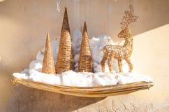 Decoración de la Navidad del oro Imagen de archivo libre de regalías