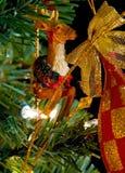 Decoración de la Navidad del raindeer del circo en un árbol Fotos de archivo
