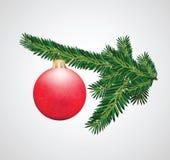 Decoración de la Navidad del rectángulo de regalo Fotos de archivo libres de regalías
