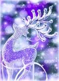 Decoración de la Navidad del reno Fotografía de archivo libre de regalías