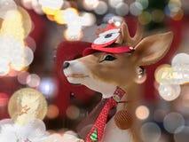 Decoración de la Navidad del reno Fotografía de archivo